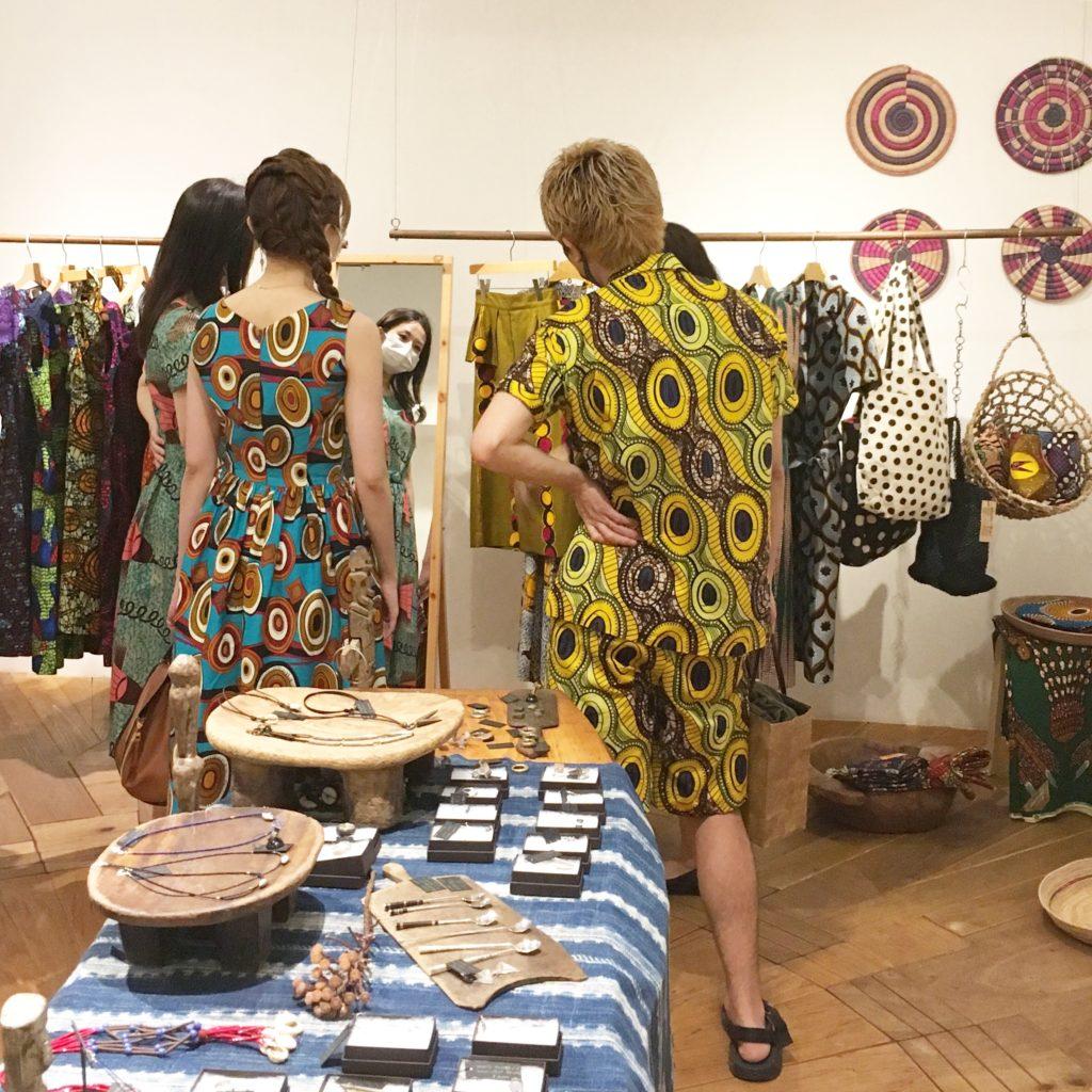 MixedAfrica展 2020.7 展示風景