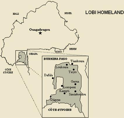 lobi in ghana map