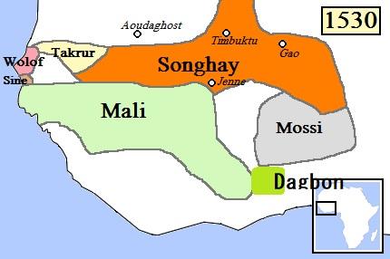 westafricamap1530withdagbon photo by wikipedia