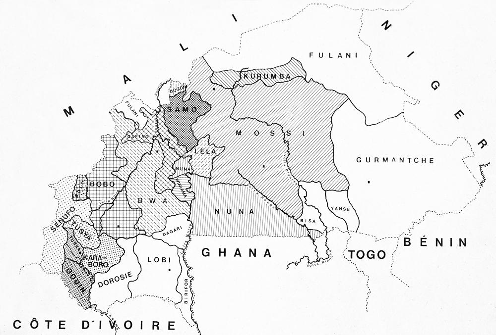 ブルキナファソ 民族分布