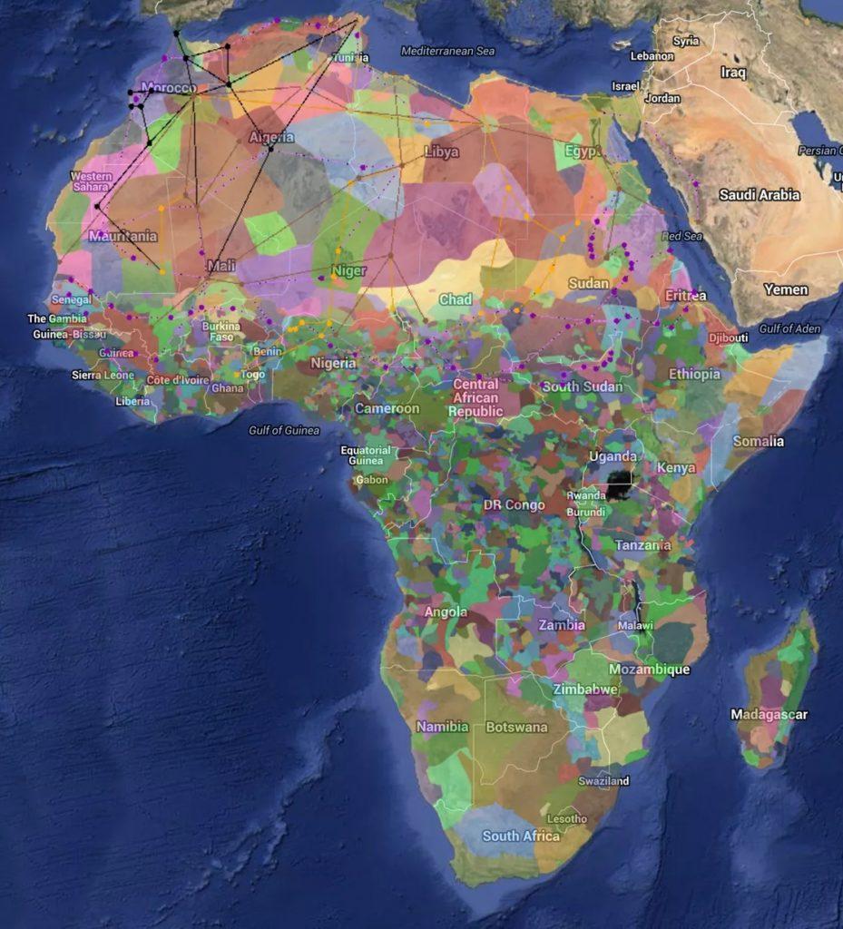 アフリカの民族分布